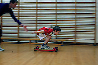 Ski jumping season starts with indoor training at the Ready clubhouse.