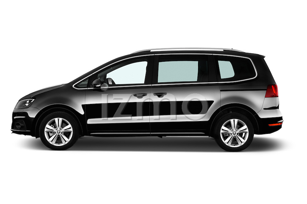 Car Driver side profile view of a 2016 Seat Alhambra Style Advance 5 Door Minivan Side View
