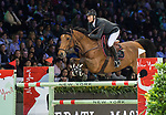 Patrice Delaveau of France riding Vestale de Mazure Hdc competes in the Masters One DBS during the Longines Masters of Hong Kong at AsiaWorld-Expo on 11 February 2018, in Hong Kong, Hong Kong. Photo by Diego Gonzalez / Power Sport Images