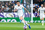 James Rodriguez in action during the match of Spanish La Liga between Real Madrid and Real Betis at  Santiago Bernabeu Stadium in Madrid, Spain. March 12, 2017. (ALTERPHOTOS / Rodrigo Jimenez)