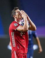 23rd August 2020, Estádio da Luz, Lison, Portugal; UEFA Champions League final, Paris St Germain versus Bayern Munich; Robert Lewandowski (Munich) celebrates his team scoring for 1-0