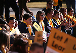 "Several hundred supporters attend a ""Nevada Supports School Choice"" rally in support of educational choices on the Capitol grounds in Carson City, Nev., on Wednesday, Jan. 28, 2015.<br /> Photo by Cathleen Allison"