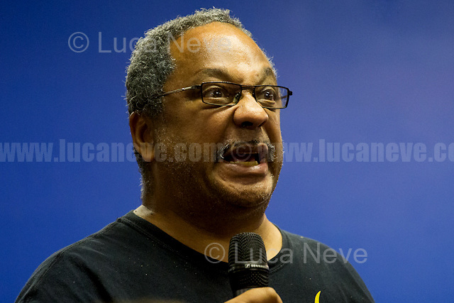 """Marc Wadsworth (British anti-racism activist and citizen journalist who for more than 30 years has been involved with anti-racist struggles, including the Anti-Racist Alliance and the campaign for justice for Stephen Lawrence).<br /> <br /> London, 15/09/2016. Today, """"Media Reform Coalition"""", held a meeting at Student Central in Malet street called """"The Media, The Movements and Jeremy Corbyn"""". From the organisers press release: <<[…] As part of the Media Reform Coalition's ongoing campaign for a media that informs, represents and empowers the public, this event will bring together media activists, workers and scholars to explore the media's misrepresentation of progressive movements and voices and shape a response that does them justice […]>>. <br /> Speakers included: Ken Loach, film and television Director; Justin Schlosbergd, media activist, researcher and Lecturer at Birkbeck University of London; Greg Philo, Professor and Director of Glasgow University Media Unit; Kam Sandhu, co-founder of Real Media; Chris Nineham, National Officer of Stop The War Coalition; James Schneider, National Organiser of Momentum; Angela Towers member of No More Page 3 Campaign; Des Freedman Chair of the event, member of the Media Reform Coalition and Professor of Media and Communications in the Department of Media and Communications at Goldsmiths, University of London.<br /> <br /> For more information please click here: http://www.mediareform.org.uk/blog/5-myths-corbyn-media-bias-labour & https://www.facebook.com/MediaReformUK/?fref=ts<br /> <br /> For the Video of the Event please click here: https://www.youtube.com/watch?v=mNbRpjy51Io"""