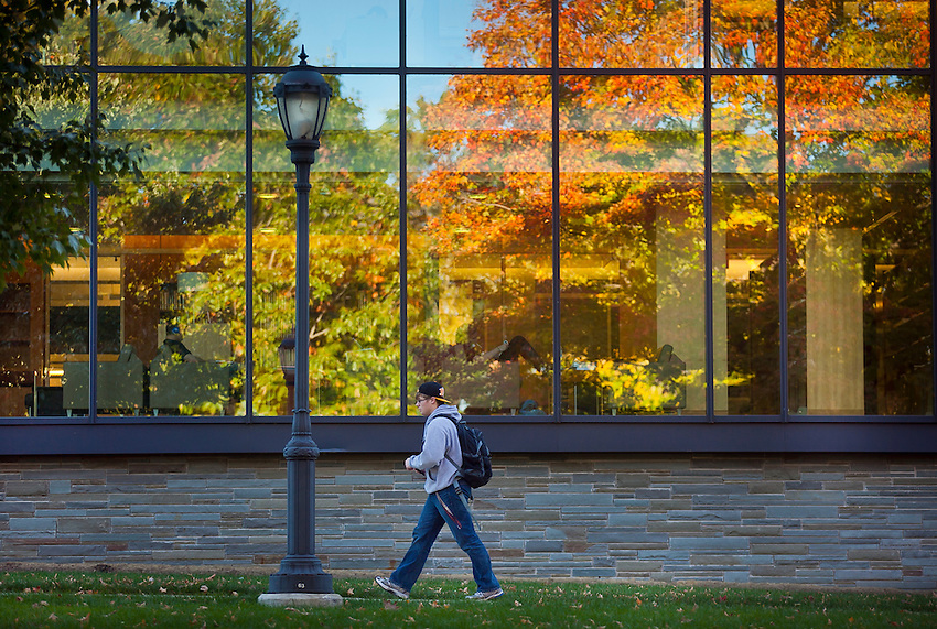 Various Fall scenics around campus including the Skillman LIbrary, Pardee Hall, Farinon Center , and near Lafayette Statues. .chuck zovko  / Zovko Photographic llc.October 17, 2011.