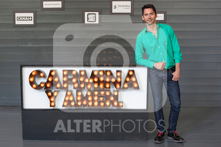 Spanish actor and director Paco Leon poses during `Carmina y amen´ film premiere photocall at Cineteca Matadero in Madrid, Spain. April 28, 2014. (ALTERPHOTOS/Victor Blanco)