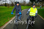 Enjoying a cycle in the Tralee town park on Saturday, l to r: Brian Kelliher and Stefan Sarbu