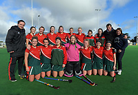 The Wairarapa team after the National Women's Association Under-18 Hockey Tournament 9th place playoff match between Wairarapa and North Harbour at Twin Turfs in Clareville, New Zealand on Saturday, 15 July 2017. Photo: Dave Lintott / lintottphoto.co.nz