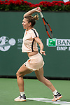 March 13, 2018: Simona Halep (ROU) defeated Qiang Wang (CHN) 7-5, 6-1 at the BNP Paribas Open played at the Indian Wells Tennis Garden in Indian Wells, California. ©Mal Taam/TennisClix/CSM