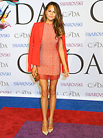 NEW YORK CITY, NY, USA - JUNE 02: Chrissy Teigen arrives at the 2014 CFDA Fashion Awards held at Alice Tully Hall, Lincoln Center on June 2, 2014 in New York City, New York, United States. (Photo by Celebrity Monitor)