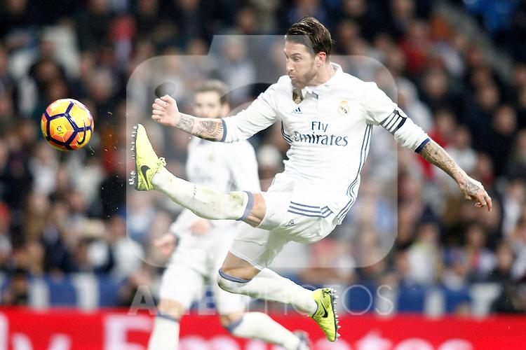 Real Madrid's Sergio Ramos during La Liga match. March 1,2017. (ALTERPHOTOS/Acero)