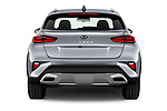 Straight rear view of 2020 KIA XCeed-PHEV Business-Line 5 Door SUV Rear View  stock images