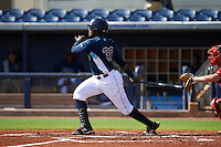 GCL Rays first baseman Gilbert Marrero (30) at bat during the first game of a doubleheader against the GCL Red Sox on August 4, 2015 at Charlotte Sports Park in Port Charlotte, Florida.  GCL Red Sox defeated the GCL Rays 10-2.  (Mike Janes/Four Seam Images)