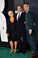 "LOS ANGELES, USA. September 29, 2019: Heart Phoenix, Joaquin Phoenix & Todd Phillips at the premiere of ""Joker"" at the TCL Chinese Theatre, Hollywood.<br /> Picture: Paul Smith/Featureflash"