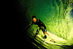 A view inside the barrel of a wave as a surfer slips through off the Island of Natvidad, Mexico, EXPA Pictures © 2010, PhotoCredit: EXPA/ New Sport/ Les Walker *** ATTENTION *** United States of America OUT!