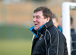 St Johnstone Training….25.01.19          McDiarmid Park<br />Manager Tommy Wright having fun at Murray Davidson's expense during training this morning ahead of tomorrows game at Hearts.<br />Picture by Graeme Hart.<br />Copyright Perthshire Picture Agency<br />Tel: 01738 623350  Mobile: 07990 594431