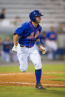 Kevin Kaczmarski (36) of the Kingsport Mets hustles down the first base line against the Elizabethton Twins at Hunter Wright Stadium on July 8, 2015 in Kingsport, Tennessee.  The Mets defeated the Twins 8-2. (Brian Westerholt/Four Seam Images)