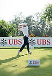 Nathan Kimsey of England tees off the first hole during the 58th UBS Hong Kong Golf Open as part of the European Tour on 11 December 2016, at the Hong Kong Golf Club, Fanling, Hong Kong, China. Photo by Marcio Rodrigo Machado / Power Sport Images