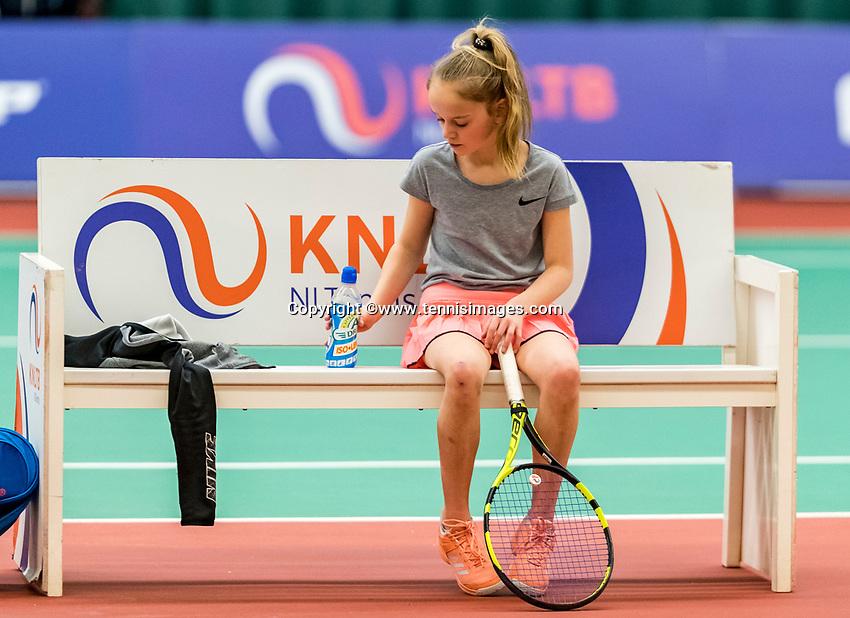 Wateringen, The Netherlands, March 9, 2018,  De Reijenhof , NOJK 12/16 years, Ruth Jonker (NED)<br /> Photo: www.tennisimages.com/Henk Koster