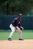GCL Yankees West shortstop Sincere Smith (3) during the second game of a doubleheader against the GCL Braves on July 30, 2018 at Champion Stadium in Kissimmee, Florida.  GCL Braves defeated GCL Yankees West 5-4.  (Mike Janes/Four Seam Images)
