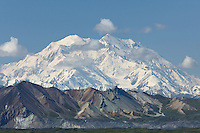 Mt. McKinley rises above valley in Denali National Park.