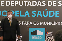 SÃO PAULO, SP, 10.06.2021 - POLÍTICA-SP - Carlão Pignatari, Deputado Estadual (PSDB/SP) e Presidente da Assembléia Legislativa do Estado de São Paulo, anuncia investimentos na área da Saúde de 427 municípios paulistas, incluindo a capital São Paulo, na Assembléia Legislativa do Estado de São Paulo - ALESP, nesta quinta-feira, 10. (Foto Charles Sholl/Brazil Photo Press)