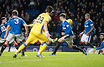Rangers v St Johnstone…01.03.17     SPFL    Ibrox<br />David Wotherspoon (hidden) scores saints first goal<br />Picture by Graeme Hart.<br />Copyright Perthshire Picture Agency<br />Tel: 01738 623350  Mobile: 07990 594431
