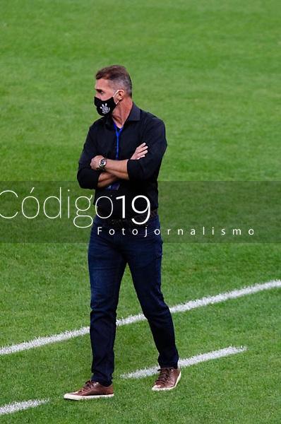 São Paulo (SP), 29/04/2021 - CORINTHIANS-PEÑAROL - Vagner Mancini, técnico do Corinthians. Corinthians e Peñarol partida válida pela 2ª rodada da Sul-Americana 2021, na Neo Química Arena, nesta quinta-feira (29).