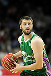 Unicaja´s Stefan Markovic during 2014-15 Liga Endesa match between Real Madrid and Unicaja at Palacio de los Deportes stadium in Madrid, Spain. April 30, 2015. (ALTERPHOTOS/Luis Fernandez)