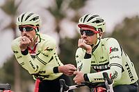 John DEGENKOLB (DEU/Trek-Segafredo) & Edward THEUNS (BEL/Trek-Segafredo) thinking alike...<br /> <br /> Team Trek-Segafredo training camp<br /> Mallorca jan2019<br /> <br /> ©kramon