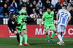 CD Leganes's Ivan Cuellar and Levante UD's Borja Mayoral during La Liga match between CD Leganes and Levante UD at Butarque Stadium in Leganes, Spain. March 04, 2019. (ALTERPHOTOS/A. Perez Meca)