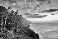 Napali Coast at Sunset. Kauai, Hawaii