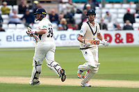 Nick Compton (R) and Paul Stirling add to the Middlesex total during Essex CCC vs Middlesex CCC, Specsavers County Championship Division 1 Cricket at The Cloudfm County Ground on 29th June 2017