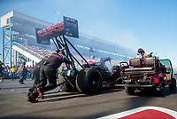 Nov 2, 2019; Las Vegas, NV, USA; NHRA top fuel driver Billy Torrence during qualifying for the Dodge Nationals at The Strip at Las Vegas Motor Speedway. Mandatory Credit: Mark J. Rebilas-USA TODAY Sports