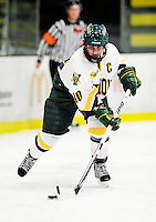 30 October 2009: University of Vermont Catamount forward Chelsea Furlani, a Senior from Colchester, VT, in action against the Northeastern University Huskies at Gutterson Fieldhouse in Burlington, Vermont. The Catamounts were shut out by the visiting Huskies 3-0. Mandatory Credit: Ed Wolfstein Photo