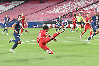 23rd August 2020, Estádio da Luz, Lison, Portugal; UEFA Champions League final, Paris St Germain versus Bayern Munich; Serge GNABRY (M) clears from Juan BERNAT  (PSG)