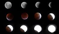 BOGOTÁ - COLOMBIA, 21-01-2019:Combo del eclipse lunar / lunar eclipse . Photo: VizzorImage / Felipe Caicedo / Satff