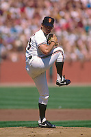 SAN FRANCISCO, CA - Dave Dravecky of the San Francisco Giants in action during a game at Candlestick Park in San Francisco, California in 1987. Photo by Brad Mangin