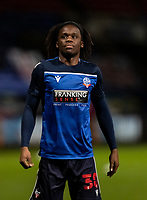 Bolton Wanderers' Peter Kioso warming up before the match <br /> <br /> Photographer Andrew Kearns/CameraSport<br /> <br /> The EFL Sky Bet League Two - Bolton Wanderers v Mansfield Town - Tuesday 3rd November 2020 - University of Bolton Stadium - Bolton<br /> <br /> World Copyright © 2020 CameraSport. All rights reserved. 43 Linden Ave. Countesthorpe. Leicester. England. LE8 5PG - Tel: +44 (0) 116 277 4147 - admin@camerasport.com - www.camerasport.com
