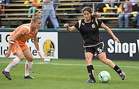 Tina DiMartino controls the ball. FC Gold Pride defeated Sky Blue FC 1-0 at Buck Shaw Stadium in Santa Clara, California on May 3, 2009.