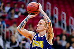Bullen Christian Matthew #4 of Winling Basketball Club concentrates prior to a free throw during the Hong Kong Basketball League game between Nam Ching vs Winling at Southorn Stadium on May 11, 2018 in Hong Kong. Photo by Yu Chun Christopher Wong / Power Sport Images