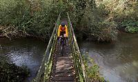 Gila Joffe riding a Cervelo Aspero Gravel bike .  The Cut , Westley Mill , nr Warfield. Berkshire , November 2020.
