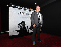 """Pictured: Club announcer and chaplain Kevin Johns showing his different socks he is wearing for charity. Friday 12 September 2014<br /> Re: Premiere of """"Jack To A King"""" a film about the history of Swansea City Football Club, at The Empire Cinema in Leicester Square, London, UK."""