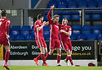 St Johnstone v Aberdeen…13.12.17…  McDiarmid Park…  SPFL<br />Kari Arnason celebrates his goal with Adam Rooney<br />Picture by Graeme Hart. <br />Copyright Perthshire Picture Agency<br />Tel: 01738 623350  Mobile: 07990 594431