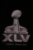 Logo des Super Bowl XLV auf dem Monitor<br /> Vorstellung Logo Super Bowl XLV, Super Bowl XLIV Pressekonferenzen *** Local Caption *** Foto ist honorarpflichtig! zzgl. gesetzl. MwSt. Auf Anfrage in hoeherer Qualitaet/Aufloesung. Belegexemplar an: Marc Schueler, Alte Weinstrasse 1, 61352 Bad Homburg, Tel. +49 (0) 151 11 65 49 88, www.gameday-mediaservices.de. Email: marc.schueler@gameday-mediaservices.de, Bankverbindung: Volksbank Bergstrasse, Kto.: 52137306, BLZ: 50890000
