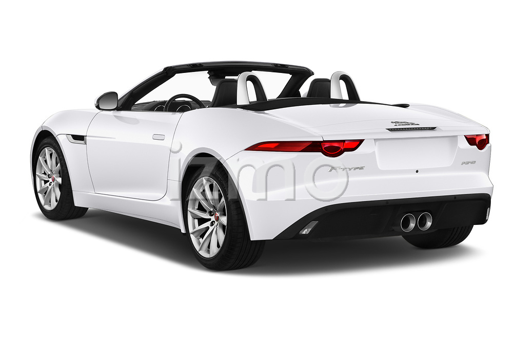 Car pictures of rear three quarter view of 2019 Jaguar F-Type - 2 Door Convertible Angular Rear