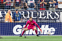 FOXBOROUGH, MA - AUGUST 18: Matt Turner #30 of New England Revolution during a game between D.C. United and New England Revolution at Gillette Stadium on August 18, 2021 in Foxborough, Massachusetts.