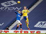 Rangers v St Johnstone…25.04.21   Ibrox.  Scottish Cup<br />Ianis Hagi loses out to Jamie McCart<br />Picture by Graeme Hart.<br />Copyright Perthshire Picture Agency<br />Tel: 01738 623350  Mobile: 07990 594431