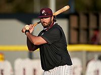 Braden River Pirates hitting coach Zack Solly before a game against the Venice Indians on February 25, 2021 at Braden River High School in Bradenton, Florida.  (Mike Janes/Four Seam Images)