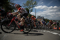 Julie Van de Velde (BEL/Lotto Soudal) up the infamous Mur de Huy.<br /> <br /> 22nd la Flèche Wallonne Féminin 2019 (1.WWT)<br /> 1 Day Race: Huy – Huy 118,5km<br /> women's elite race<br /> <br /> ©kramon