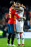 Spain's Sergio Ramos and Norway's Joshua King  during the qualifying match for Euro 2020 on 23th March, 2019 in Valencia, Spain. (ALTERPHOTOS/Alconada)